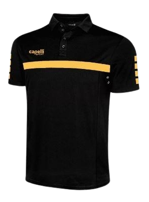 Poly Polo Black Gold