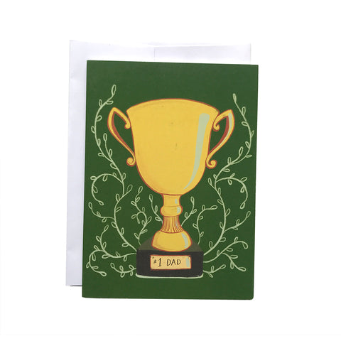 Number One Dad Trophy Father's Day Card