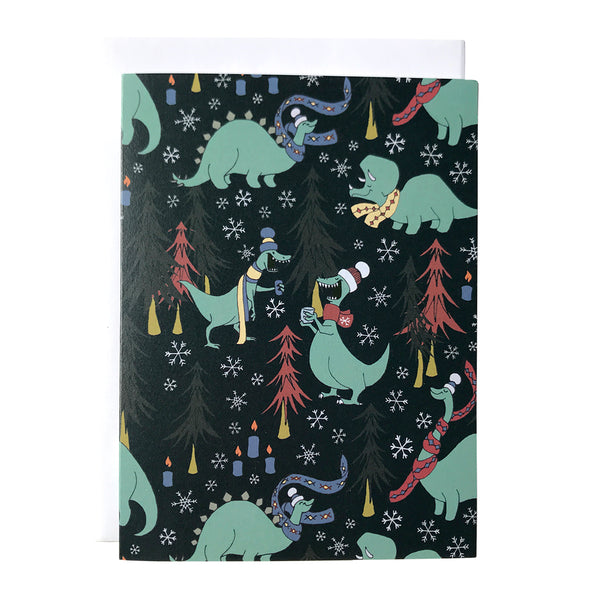 Dinosaur Hygge Patterned Note Card
