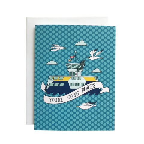 You're Going Places Dartmouth Ferry Greeting Card
