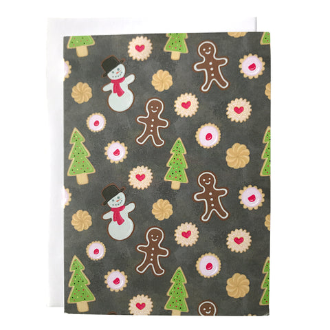 Holiday Cookies Patterned Note Card