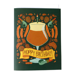 Hoppy Birthday Happy Hour Greeting Card