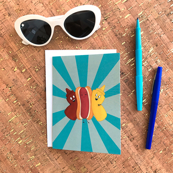Hot Dog BFFs Any Occasion Card