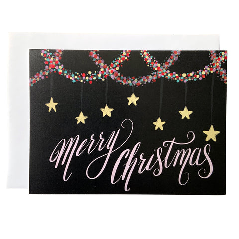 Merry Christmas Lights Card