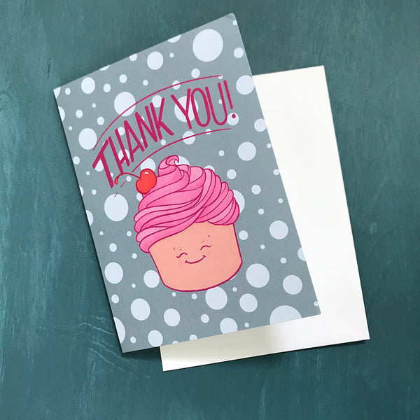 Thank You Cute Cupcake Card