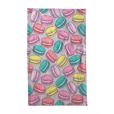 Macarons Linen-Cotton Canvas Tea Towel