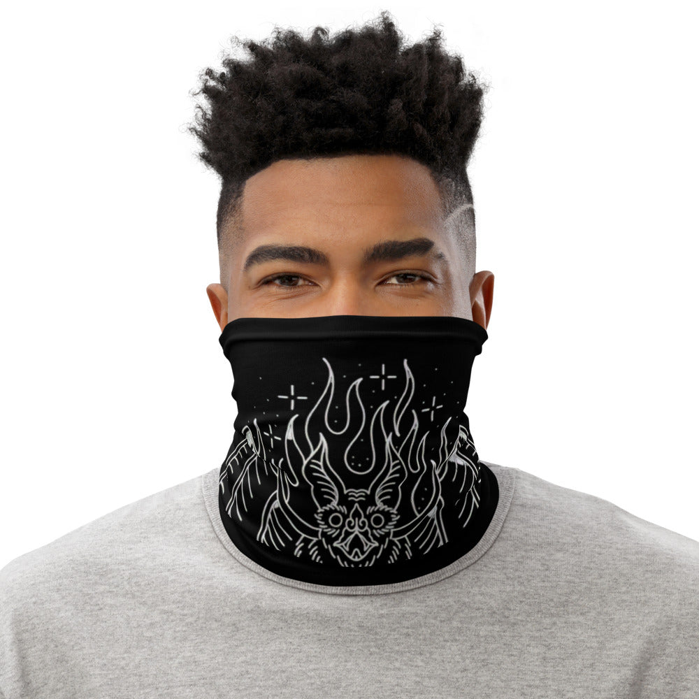 Black Neck Gaiter (White Stitching)