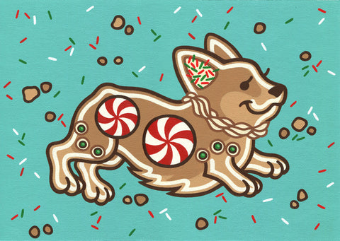 """Gingerbread Corgi"" - Amanda Beard"