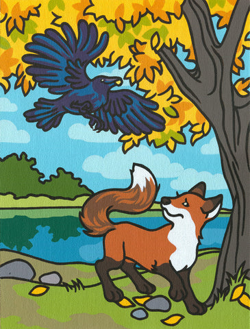"""The Fox and the Crow"" - Amanda Beard"