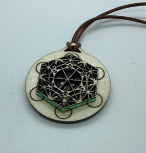 Metatrons Cube 3D Necklace