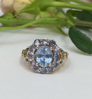 Blue Rose Ring