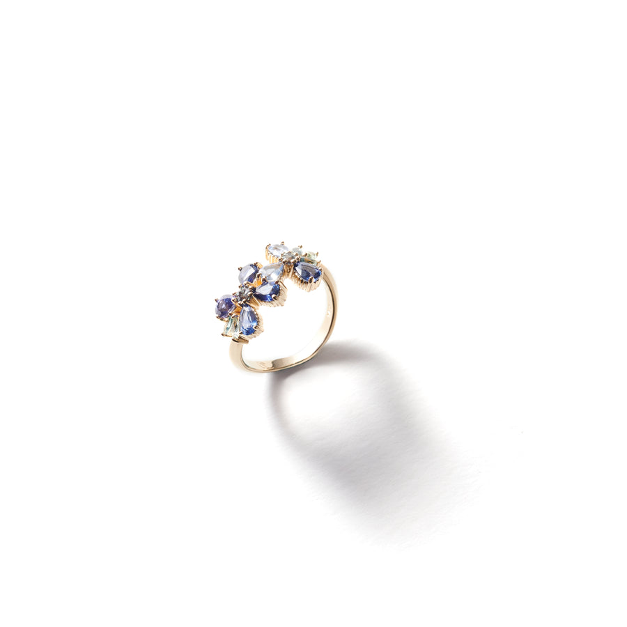 Blue Daisy Chain Ring