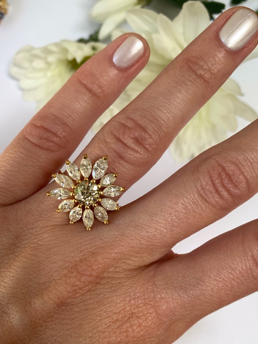 Large Daisy Ring