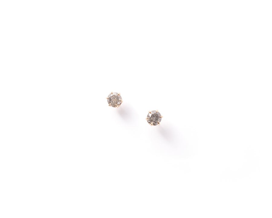 Gray Diamond Stud Earrings