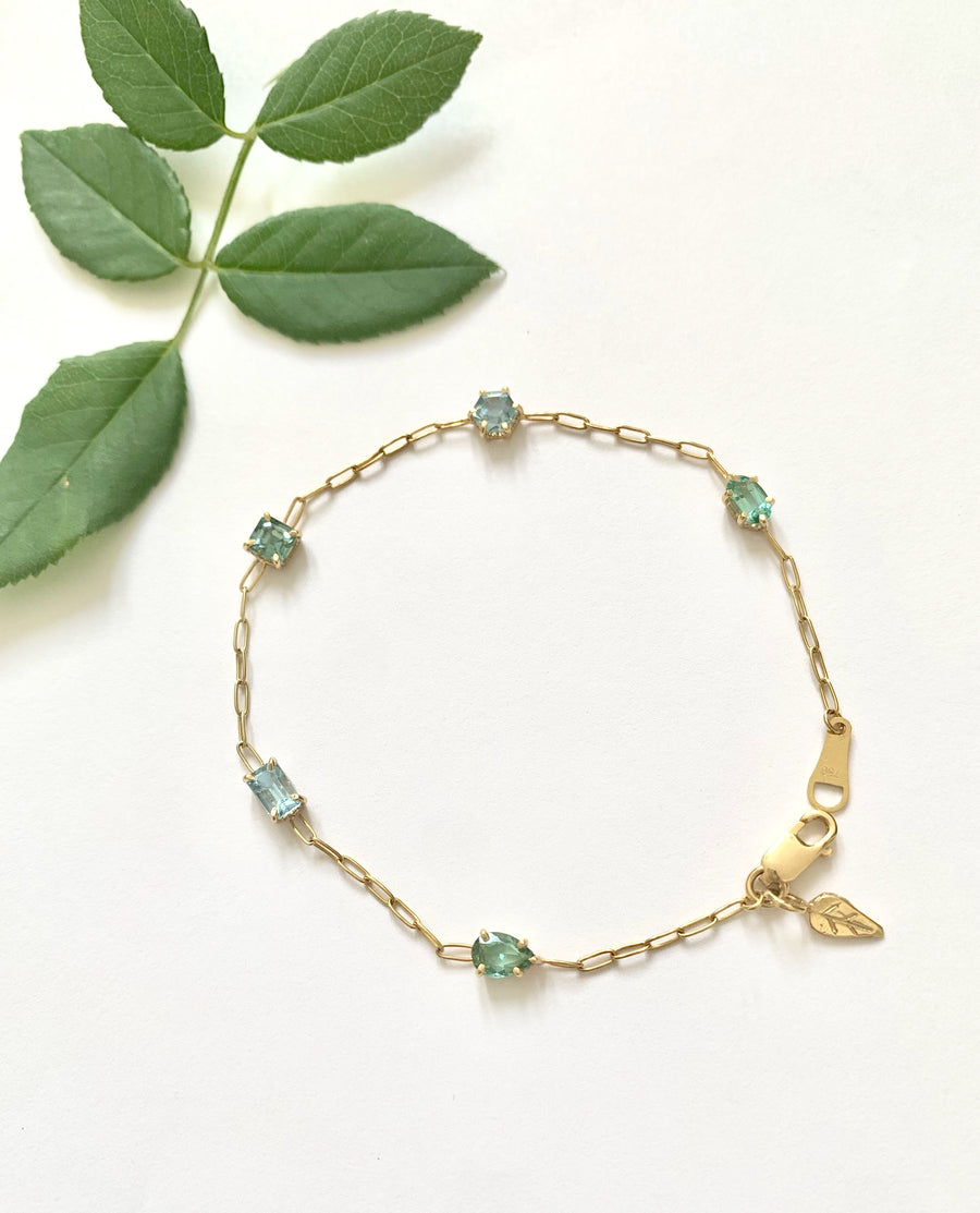 Rose + Thorn Birthstone Bracelet