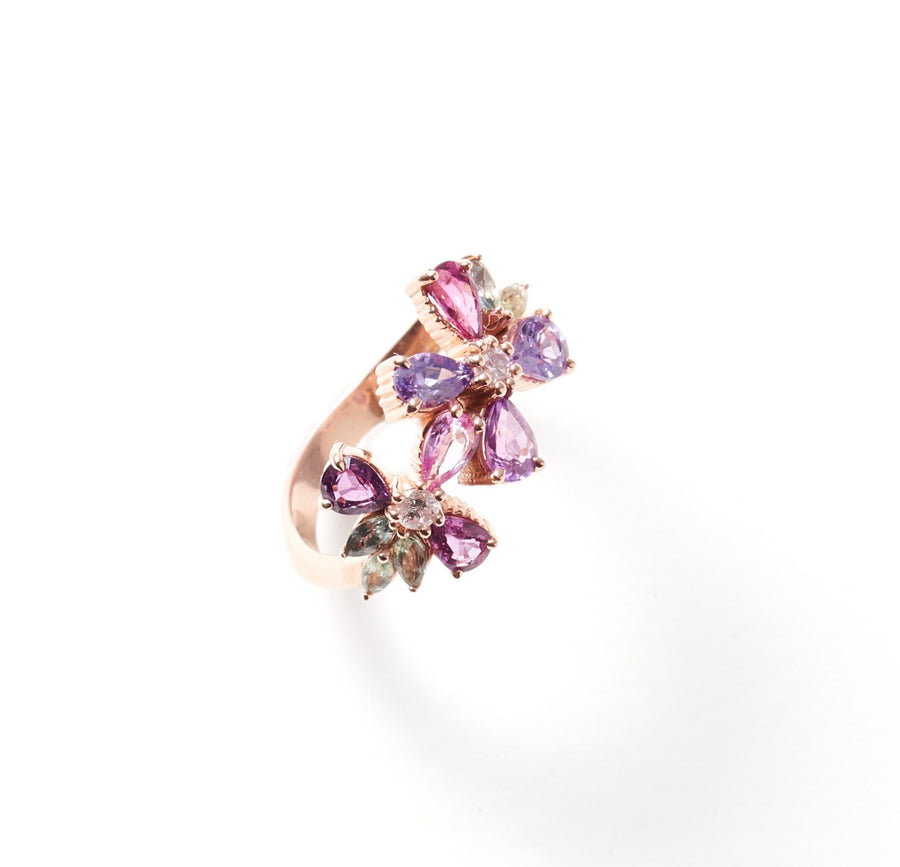 Pink Daisy Chain Ring