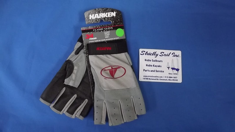 "Harken Classic Glove, 3/4"" Finger, Medium -"