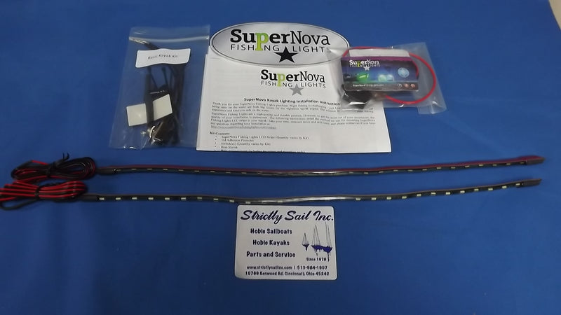 SuperNova Fishing Lights, Basic Kayak Kit (Bow Color Blue)