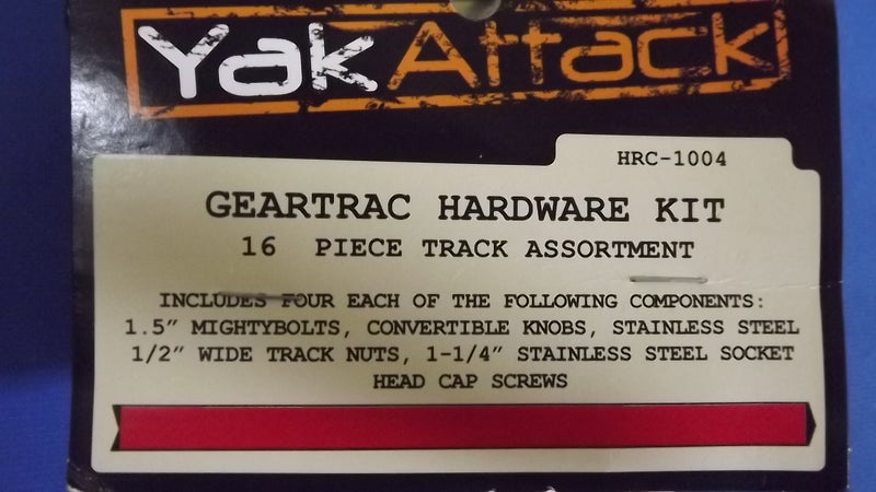 YakAttack Geartrac Hardware Kit, 16 Piece Track Assortment, Item