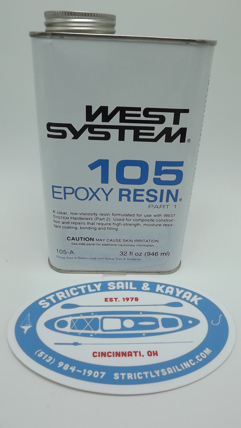 West System 105-A Epoxy Resin Quart size