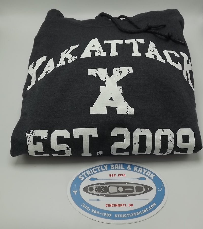 YakAttack Hoodie, Charcoal Heather, Large