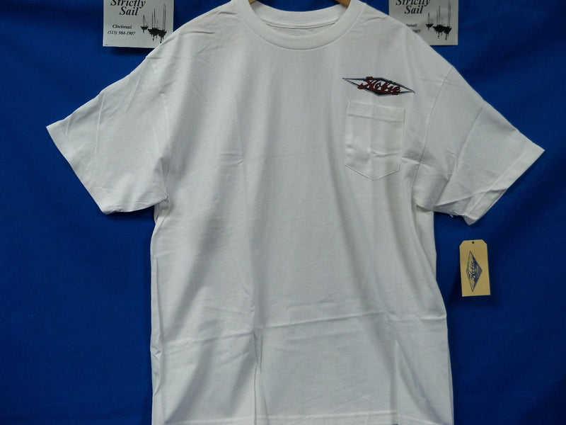 Hobie Adventure Shirt, Short Sleeves, White XL