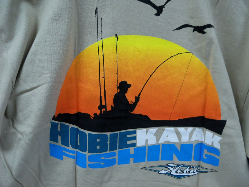Hobie Sunset Short Sleeve Fish Shirt, Sand, Large