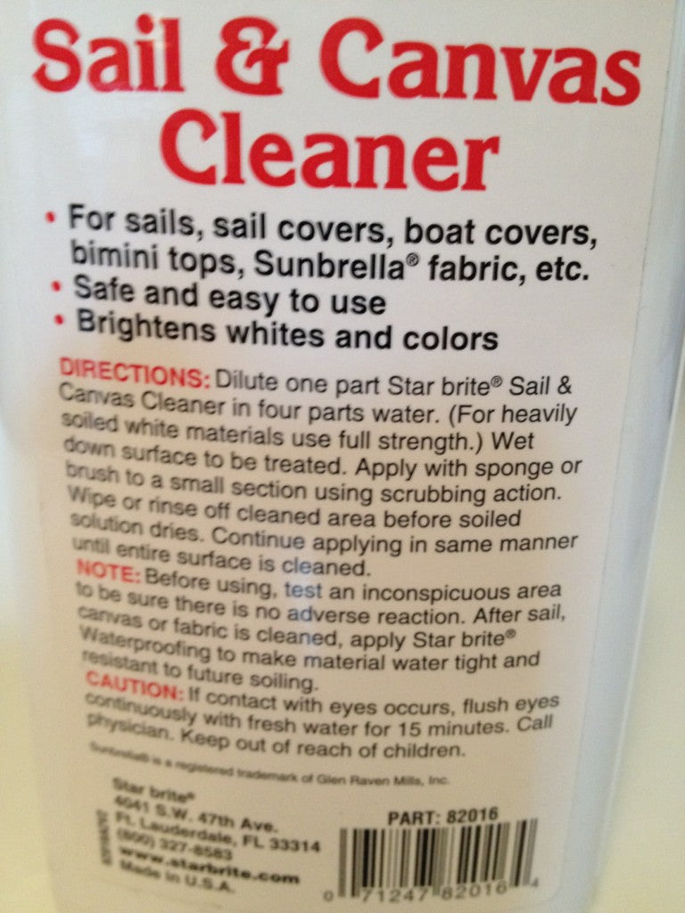 Sail and Canvas Cleaner Starbrite Concentrated Formula 16 oz