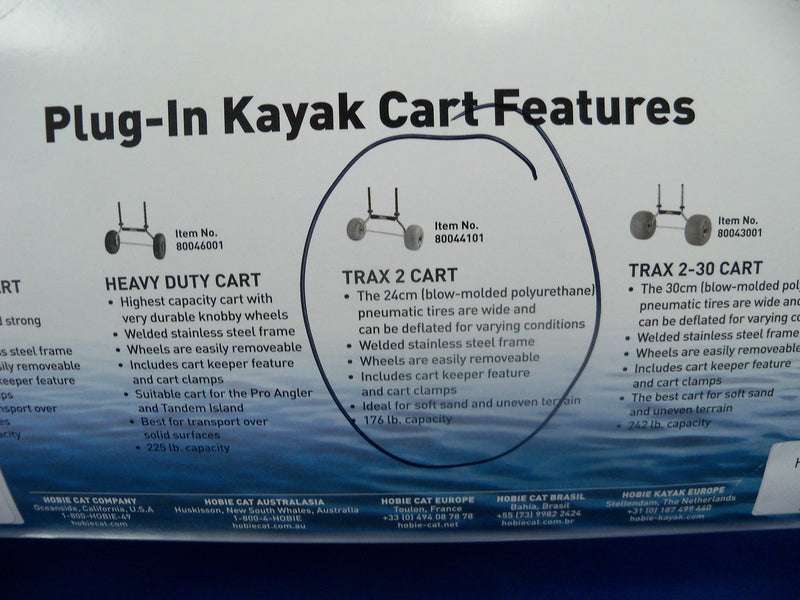 Hobie Kayak Plug in Cart Trax 2