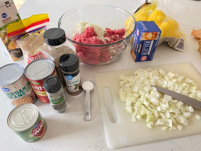 Ingredients for Armenian Soup With Butter-Filled Meatballs (Basselah)