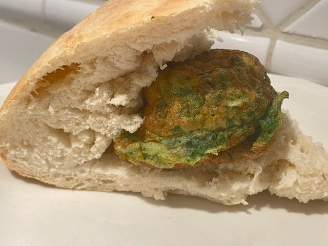 Ejjeh Egg and Parsley Appetizer with Armenian Pita Bread