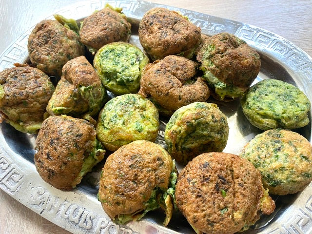 Ejjeh Egg and Parsley Patties