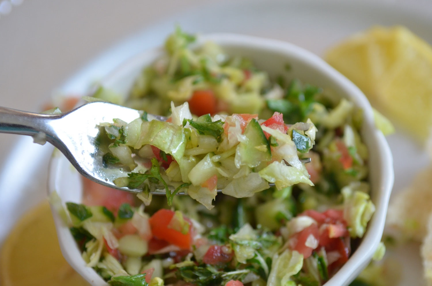 A forkful of Grain Free Tabouli