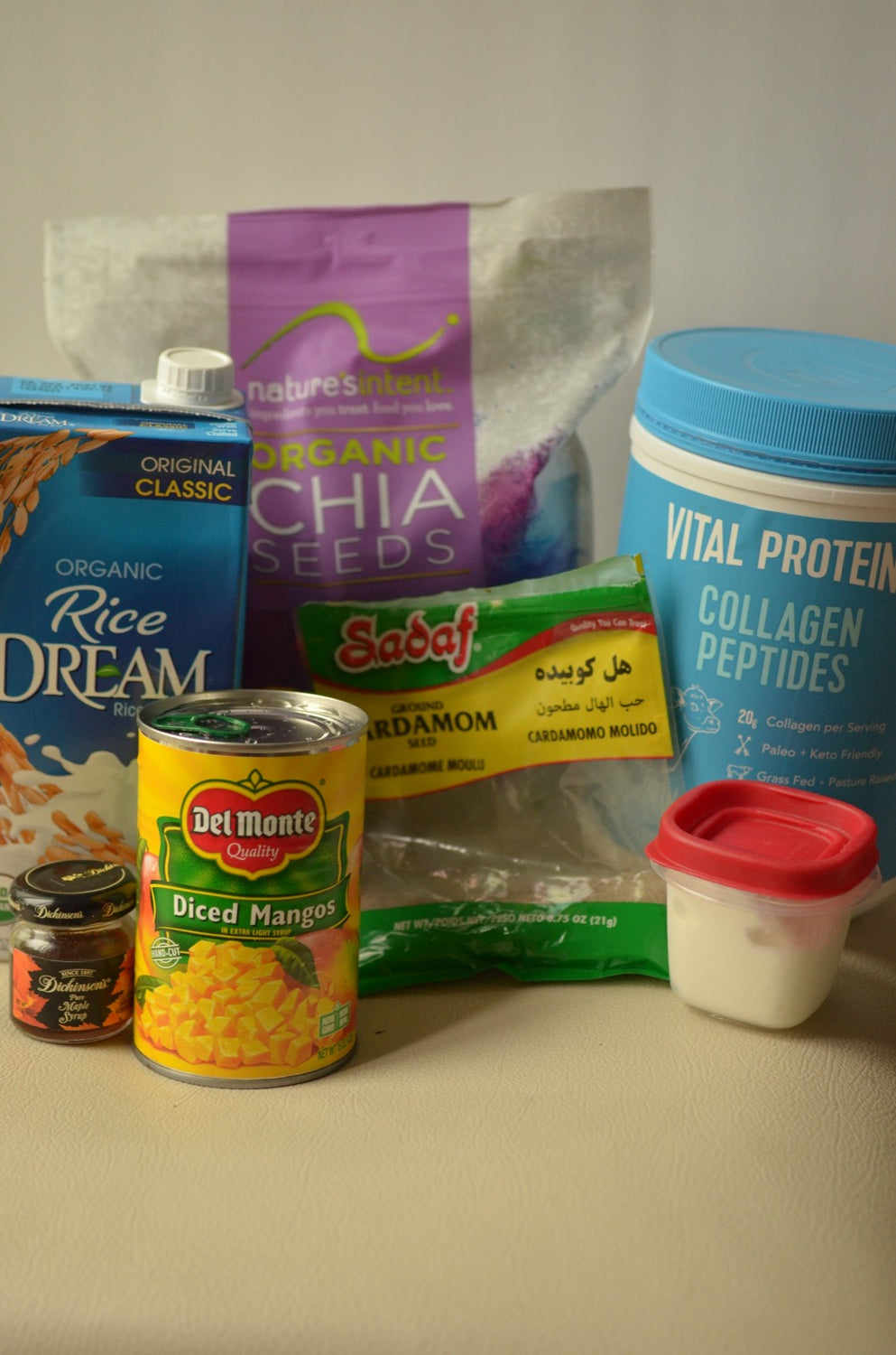 Ingredients for Protein Chia Pudding