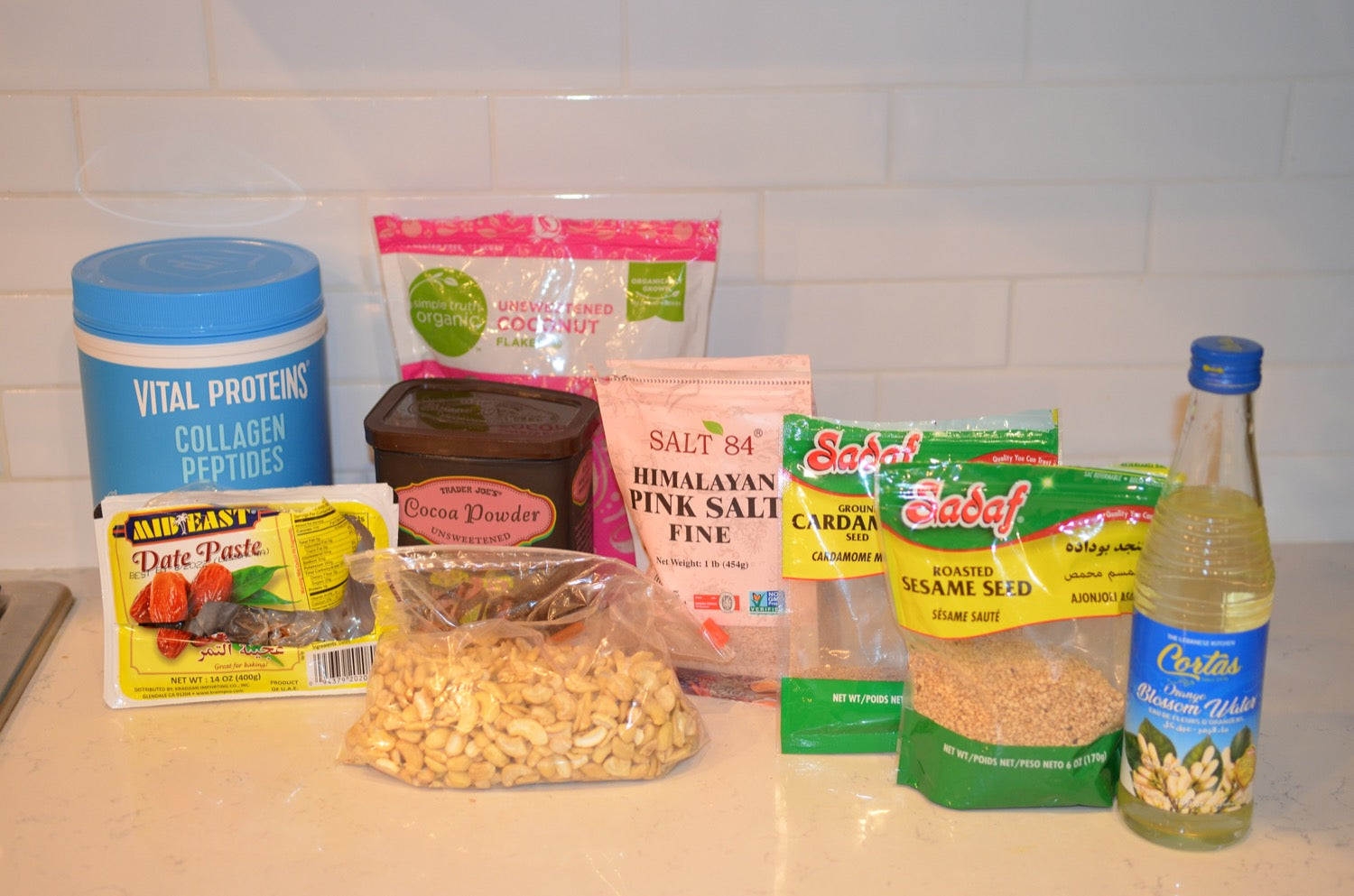Date and Cashew Protein Ball Ingredients