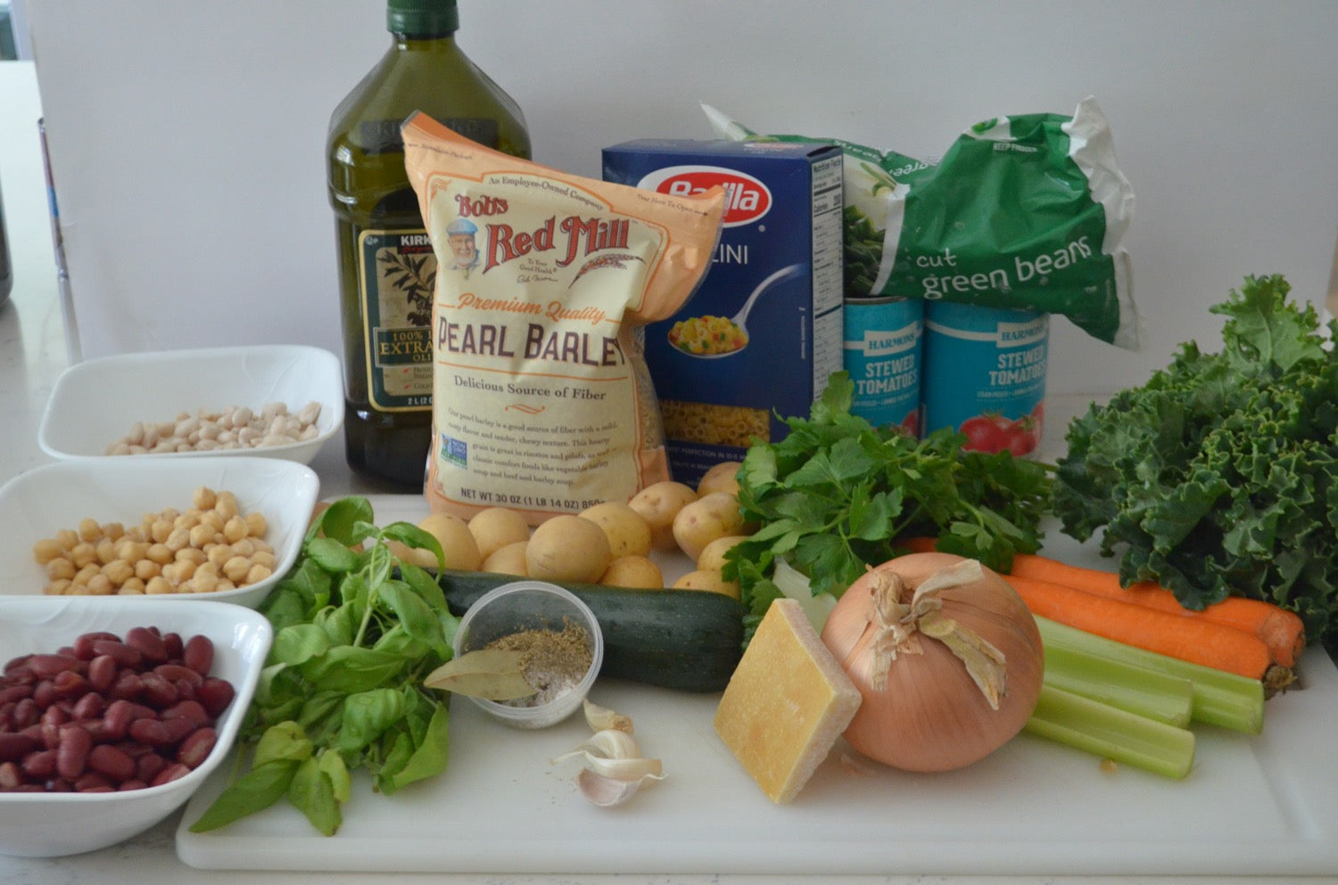 Ingredients for Authentic Italian Minestrone Soup