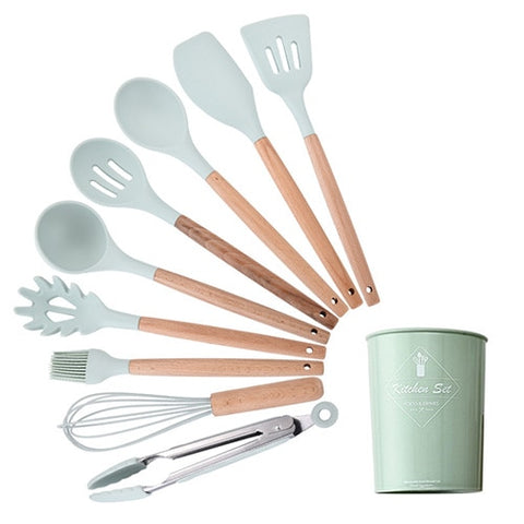 Silicone Utensil Set With Holder