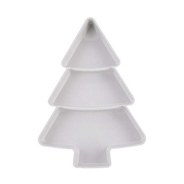Christmas Tree-Shaped Divided Serving Tray
