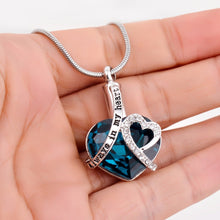 "Load image into Gallery viewer, ""Always In My Heart"" Blue Rhinestone - Cremation Necklace"