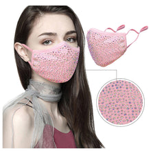 Load image into Gallery viewer, Fashion dustproof mask women protective pm2.5 washable mask bling Rhinestone masks for mouth masks anti pollution