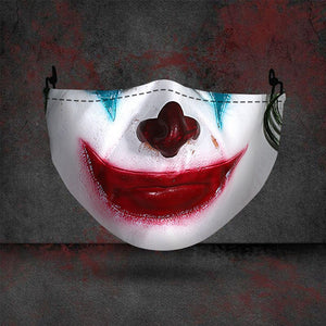 New Cosplay Masks Joker Clown Horror Funny Party Halloween Masquerade Dust-proof Mask Washable Fabric Mouth Cap Print Face Cover