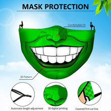 Load image into Gallery viewer, New Cosplay Masks Joker Clown Horror Funny Party Halloween Masquerade Dust-proof Mask Washable Fabric Mouth Cap Print Face Cover