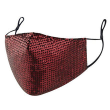 Load image into Gallery viewer, Women Sequins Bling Washable Face Mouth Masks Men Fashion Leopard Adjustable Dustproof Face Shield Foggy Haze Pm25 Mouth Muffle