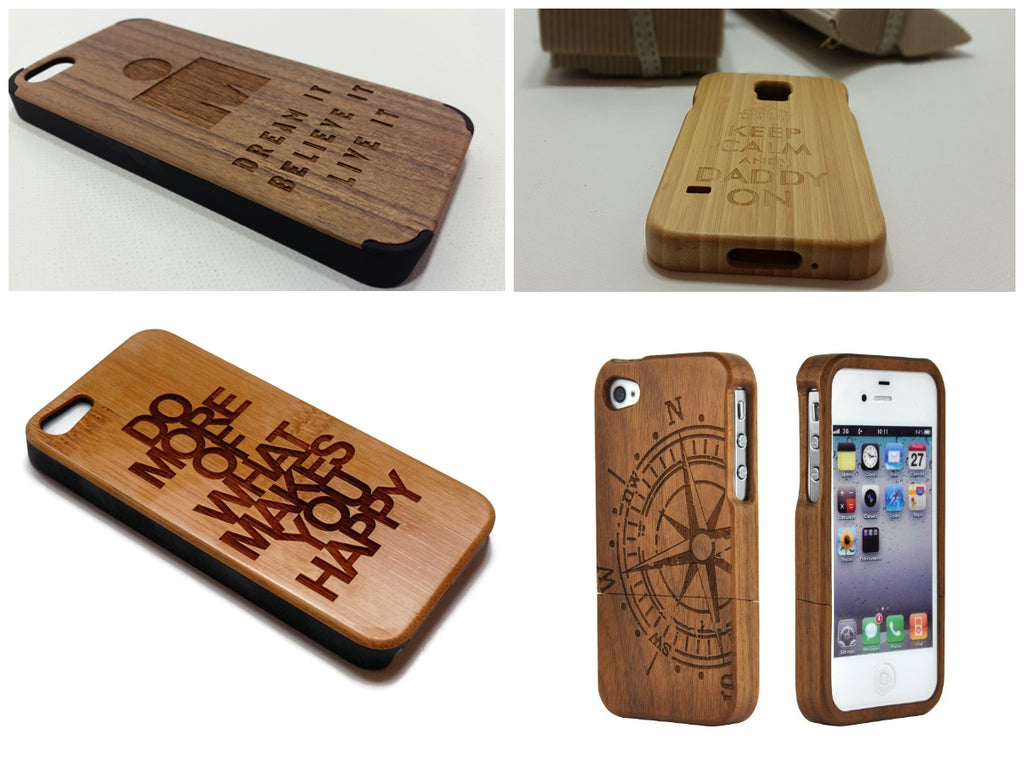 Custom Wooden and Bamboo Phone Cases – Phat Panda Products
