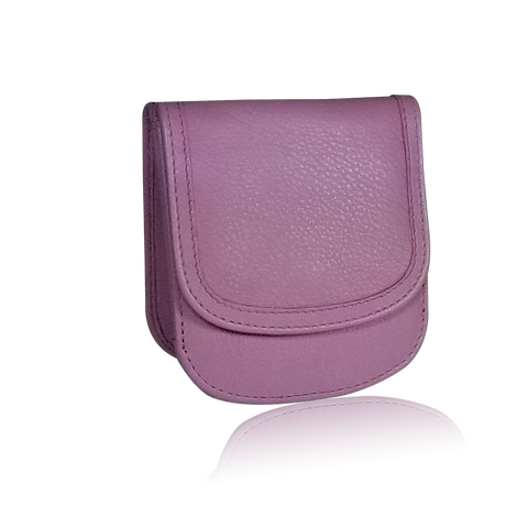 Pink Orchid Taxi Wallet. Italian Leather. Minimalist. Folding Wallet for Cards, Coins & Bills.
