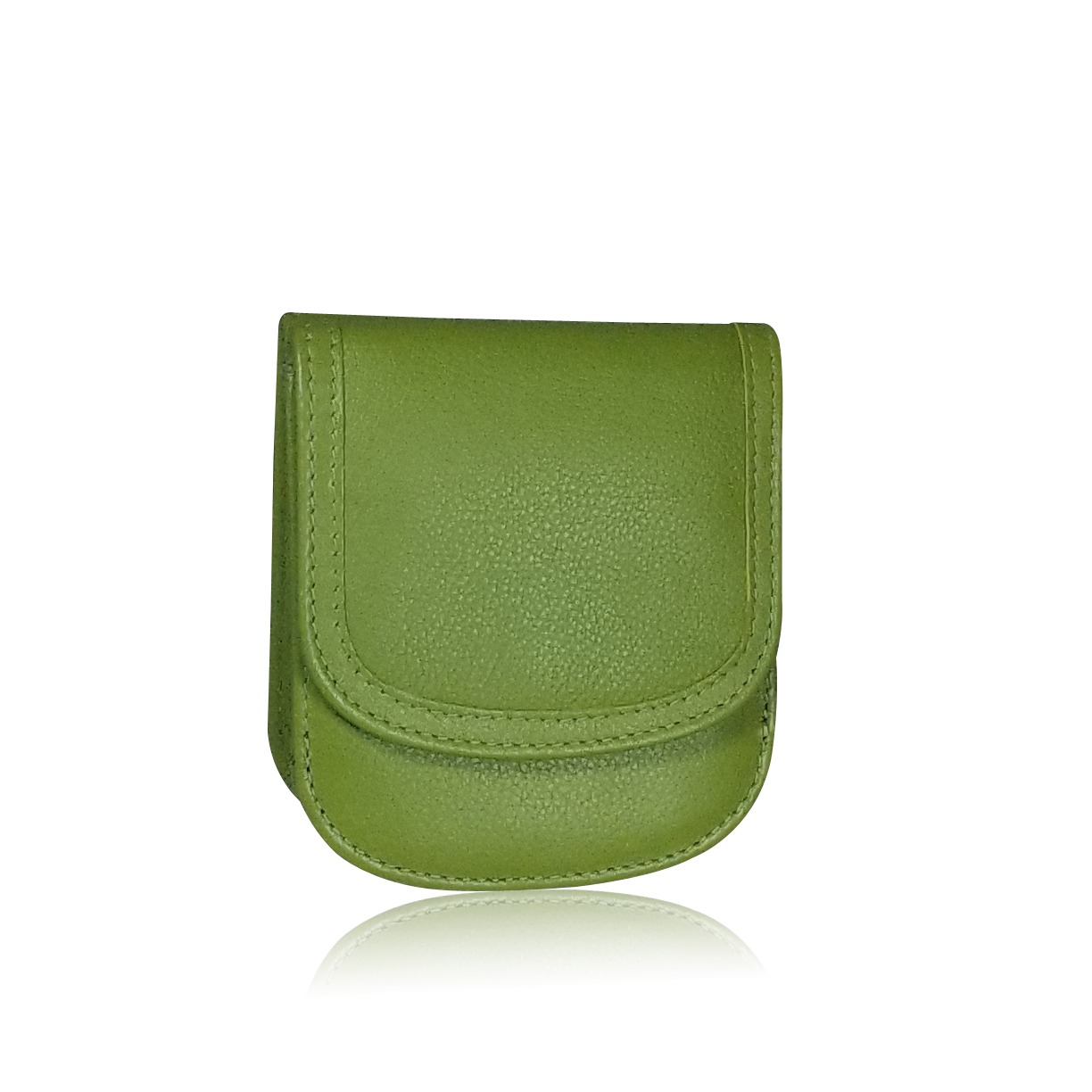 Olive Joy Taxi Wallet. Italian Leather. Minimalist. Folding Wallet for Cards, Coins & Bills.