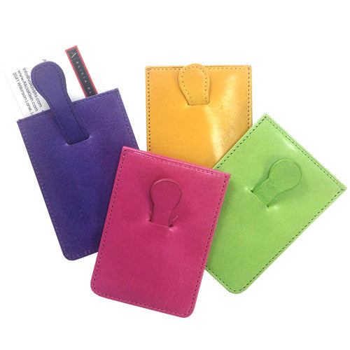 Pull-Tab Business Card Holders