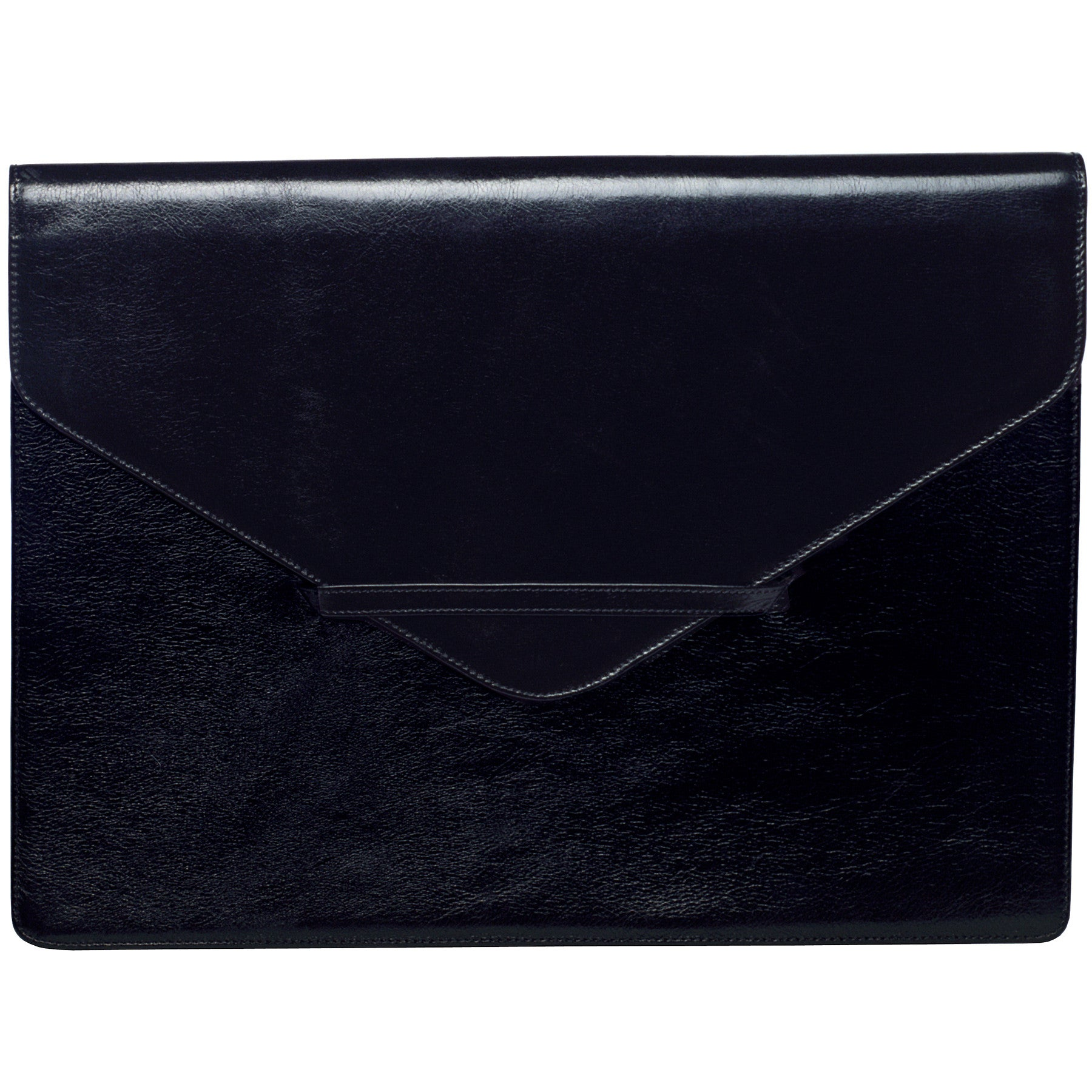 Alicia Klein large leather envelope, black