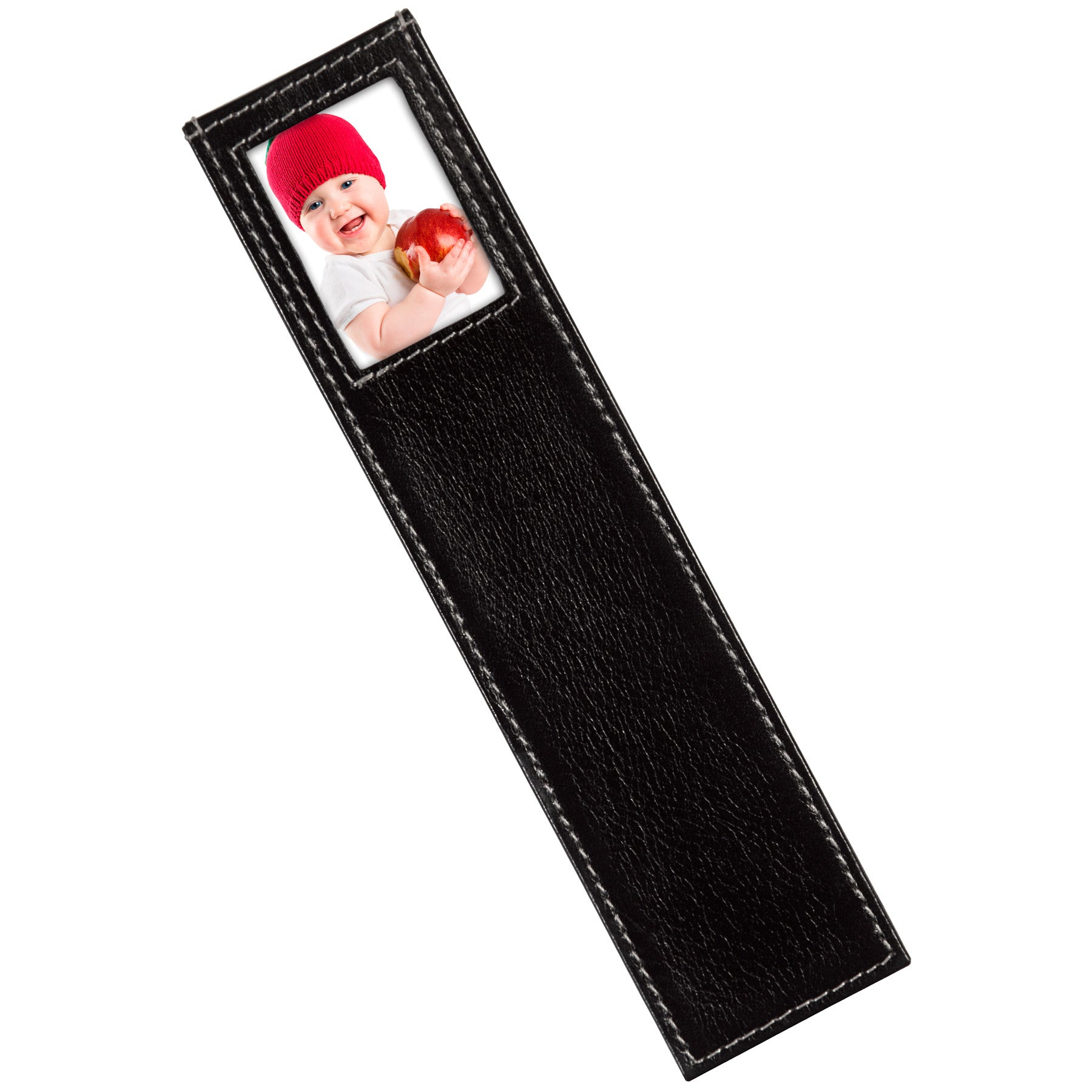 Alicia Klein leather photo bookmark, black