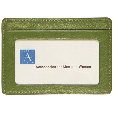 Business Card with Window - Olive